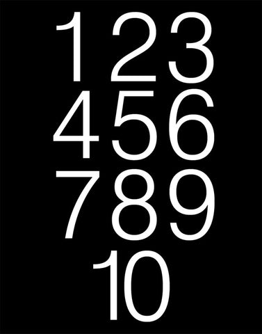 Black and White Number Poster