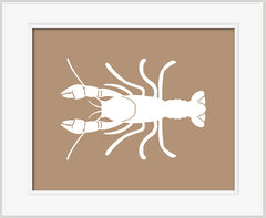 Crayfish children's art, woodland print
