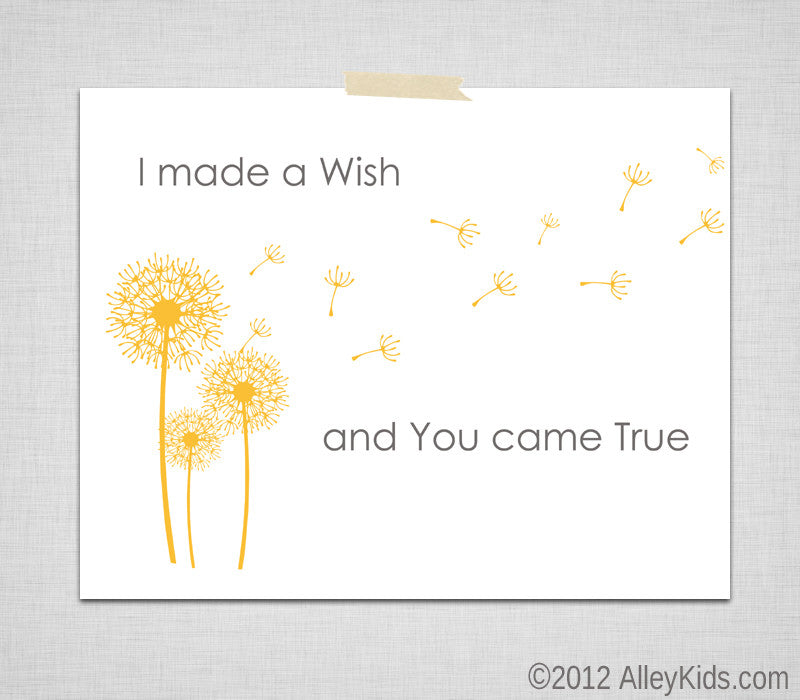 I Made A Wish, Dandelion Nursery Art