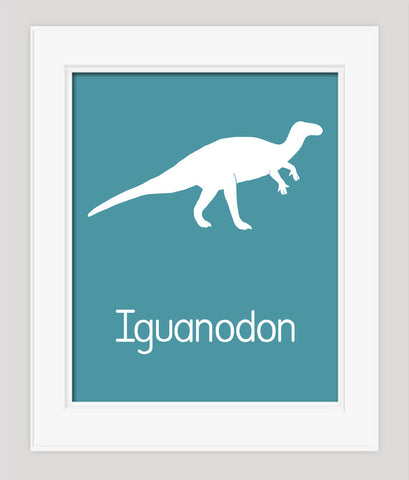 Dinosaur Childrens Art, Iguanodon Nursery Art Print