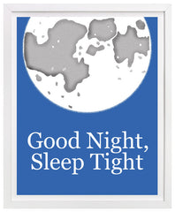 Good Night, Sleep Tight nursery art