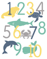 Ocean Life Number Poster, Counting Poster