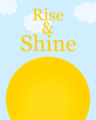 Rise and Shine nursery art