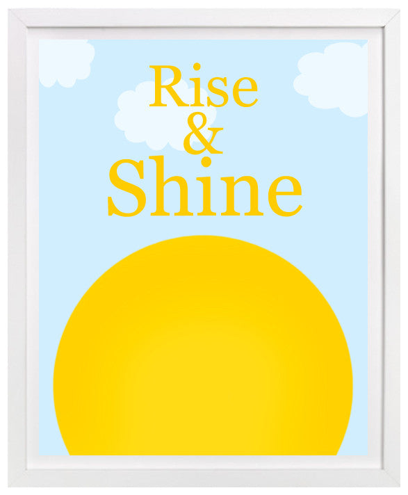 Rise & Shine Nursery Art