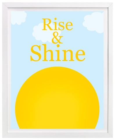 Rise and Shine, Childrens Nursery Art