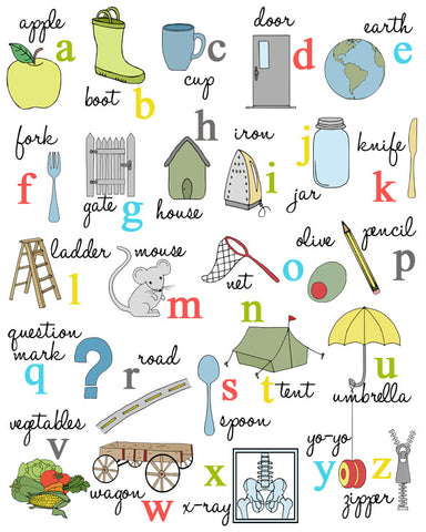 Illustrated Alphabet Poster