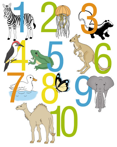 Animal Number Poster