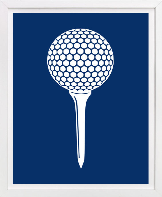 Children's golf art, Golf Ball on Tee print