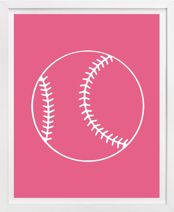 Softball art, Childrens art, Sports Art
