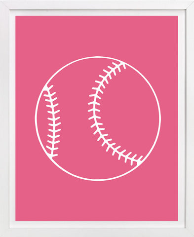 Softball Art Print - Sports Art