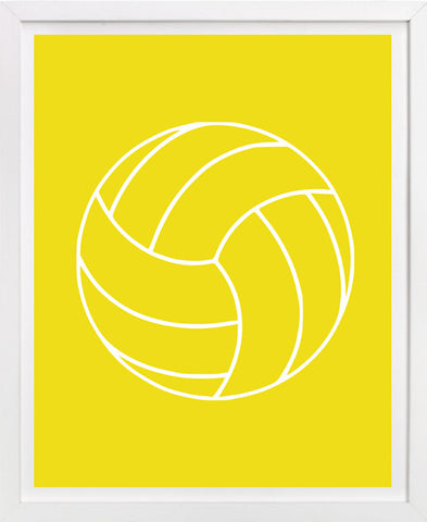 Volleyball Art Print - Sports Art
