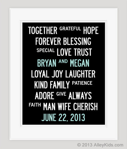 Personalized Wedding Date Print
