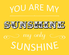 You Are My Sunshine, Nursery Art
