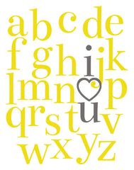 I Love You, Alphabet Poster
