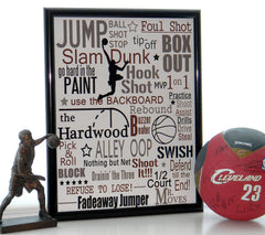Basketball subway art, Sports print