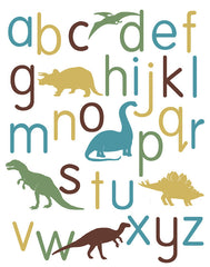 Dinosaur Alphabet Poster, lower case
