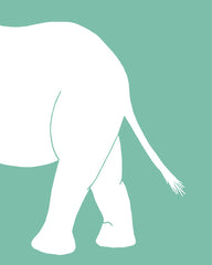 Elephant Nursery Art - elephant's hind end