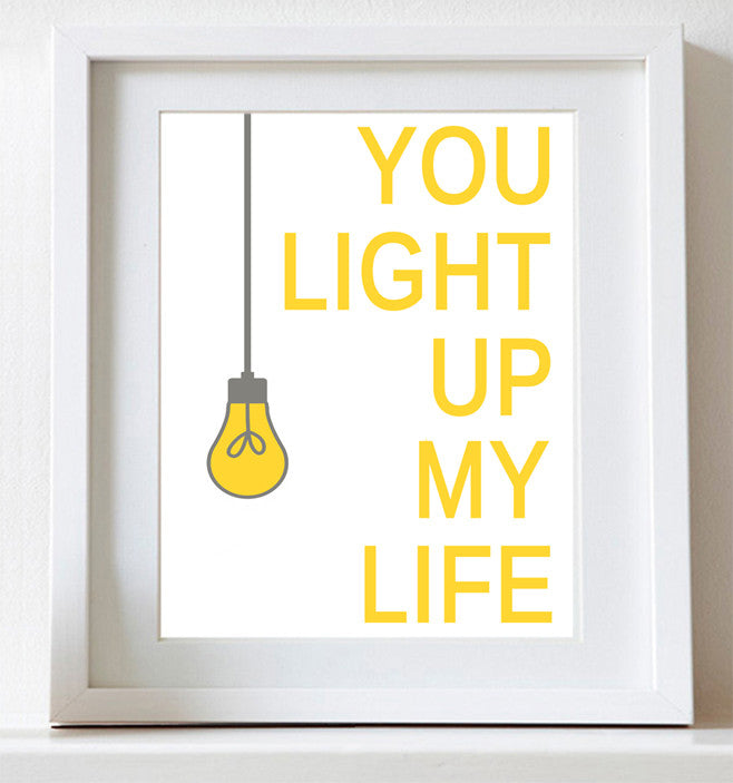 Nursery Art, You Light Up My Life