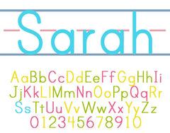 Personalized Alphabet Poster, ABC 123
