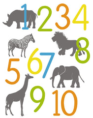 Jungle Animal Number Poster - AlleyKids.com