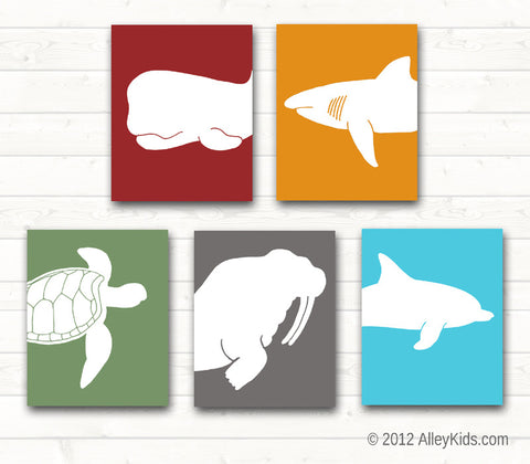Nursery Art Decor Ocean Sea Life Art Prints Pick 3