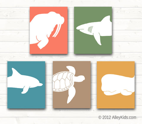 Nursery Art Ocean Sea Life Prints Pick any 2