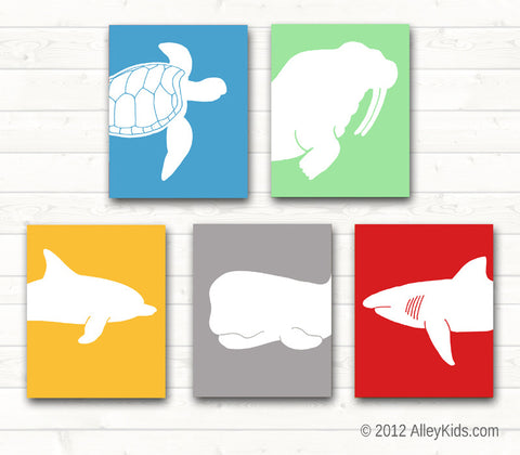 Ocean Sea Life Nursery Art Prints Pick any 4