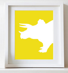 Dinosaur Nursery Art, Triceratops, Childrens art