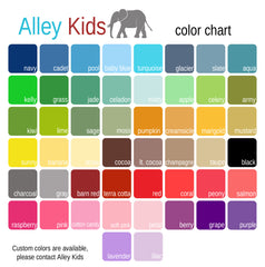 Alley Kids Color Chart