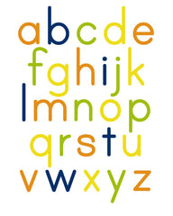 Alphabet Poster Orange Navy Lime