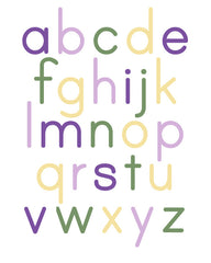 Alphabet Poster Purple