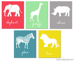 Animal nursery art jungle prints