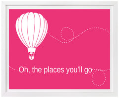 Hot Air Balloon Nursery art, Oh the Places You'll Go