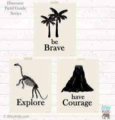 Be Brave Dinosaur Wall Art