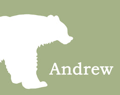 Bear Nursery Art, Personalized