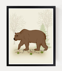 bear print woodland nursery