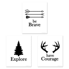 Be Brave childrens nursery art set