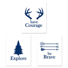 camping nursery art prints
