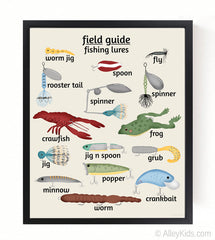 Childrens Fishing Lure Print