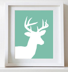 Deer nursery art print