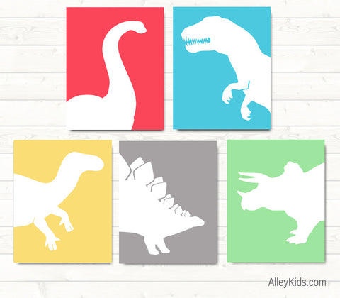 Nursery Art, Dinosaur Prints