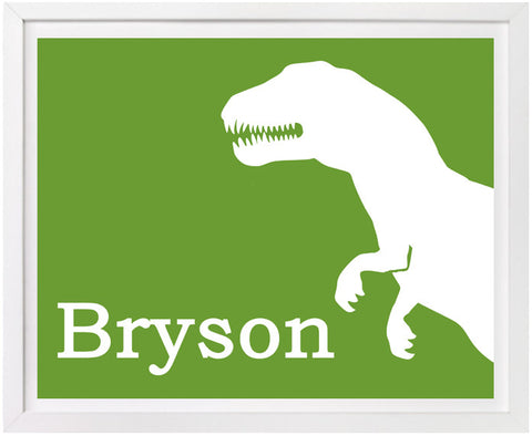 Trex Nursery Art, Personalized Print
