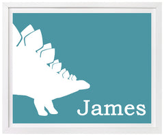 Dinosaur nursery decor, personalized print