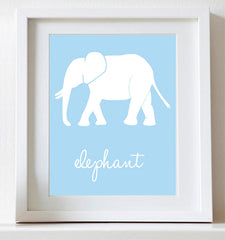 Elephant nursery art print