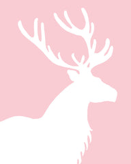 Woodland nursery art, elk print