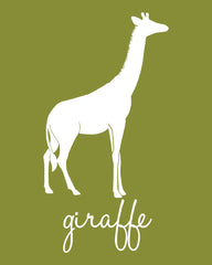 Giraffe nursery art, jungle nursery