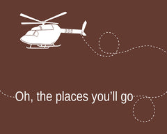 Oh, the Places You'll Go, Helicopter, Nursery Art