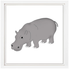 Hippo Nursery Art