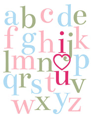 I Love You Alphabet Poster