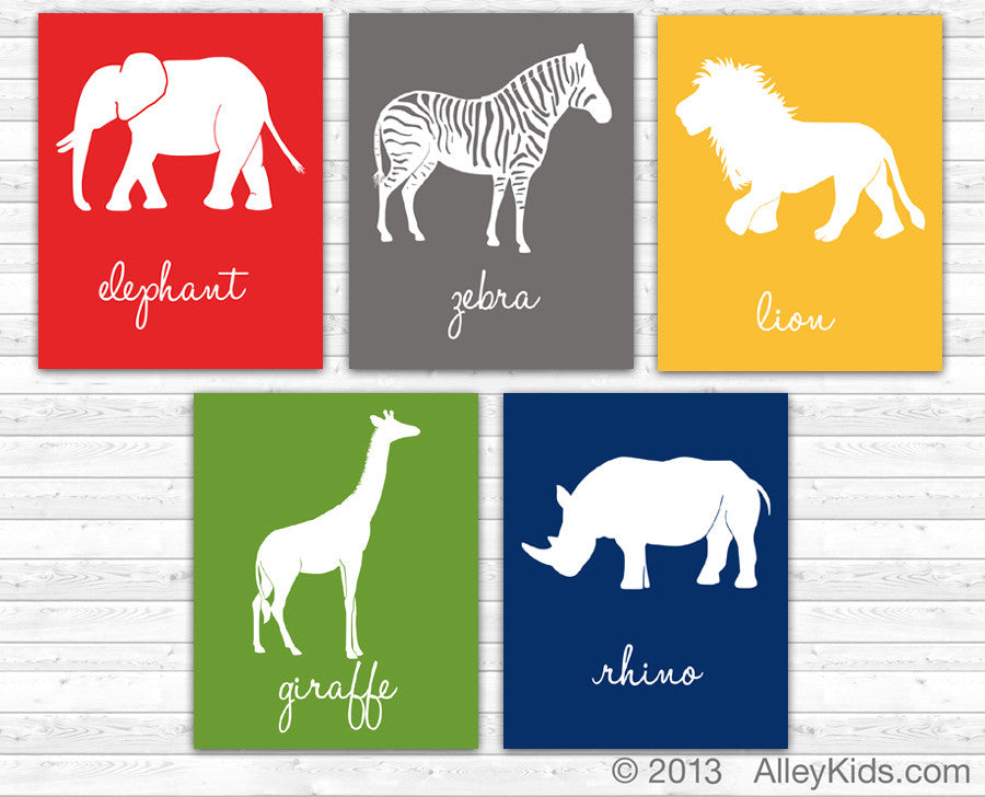 Jungle Animal Nursery Art